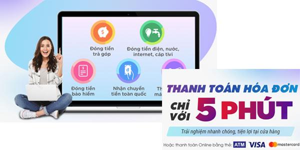 Thu Cước điện thoại, tiền điện, Tiềnnước, tiềninternet, Tivi, trả góp chuyển tiền Phường Thành lộc