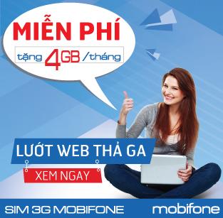 Sim 3G Mobifone giá rẻ F500 ưu đãi 48GB trong 12 tháng